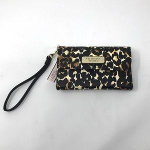 VS Leopard Tech Wallet Wristlet Phone Case